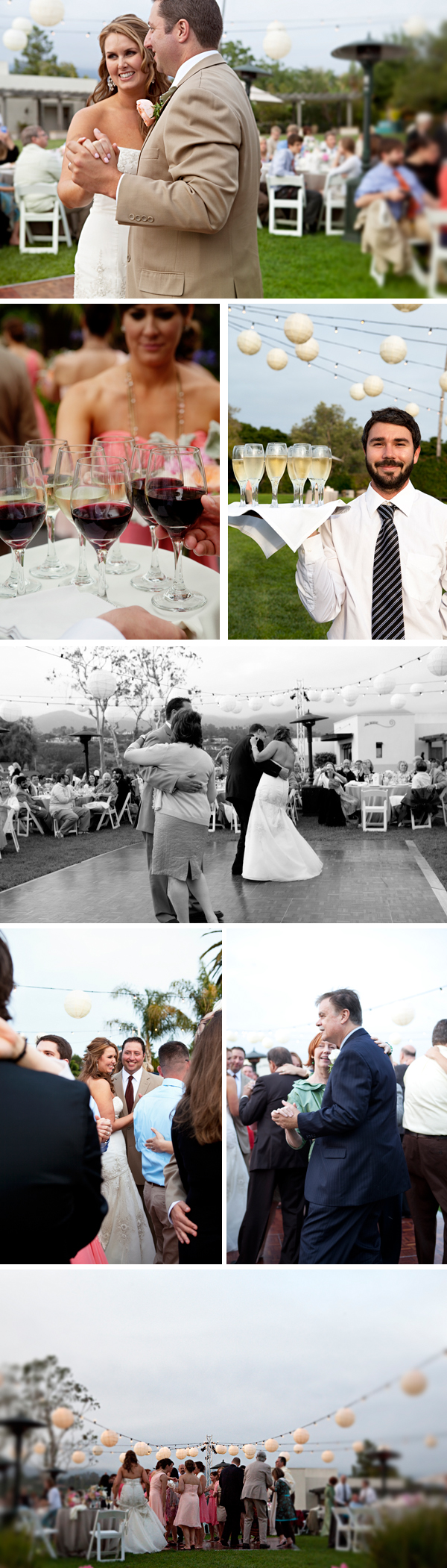 santa barbara wedding reception