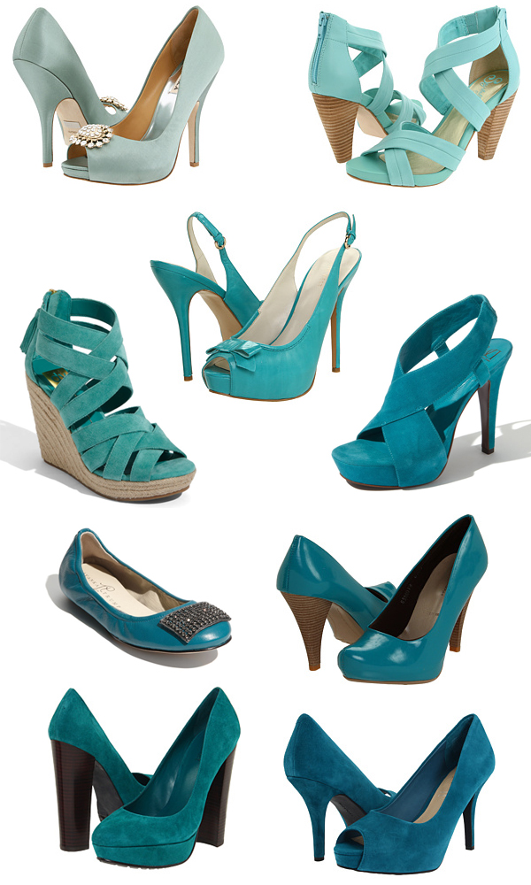 Turquoise Tuesday Shoe Round Up Something Turquoise