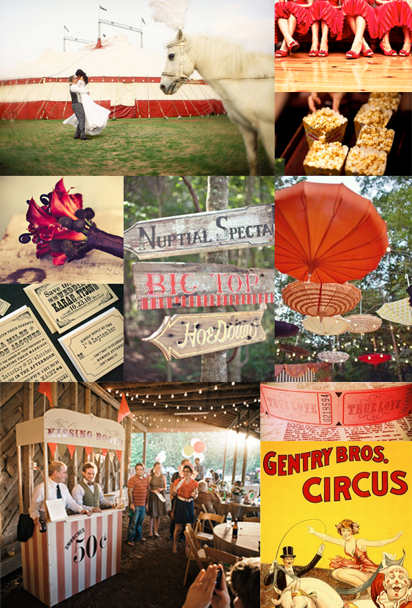 circus carnival wedding inspiration