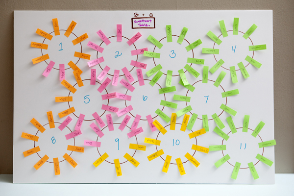 Learn how to make the easiest wedding seating chart ever!