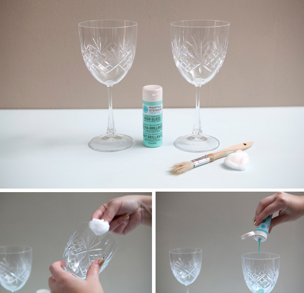 Something Turquoise Diy Hand Painted Wine Gles