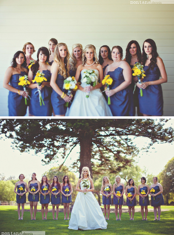 beautiful bridesmaids Montana Dennis