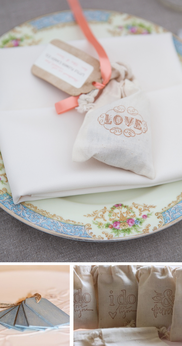 muslin wedding favor bags