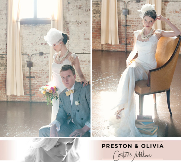 couture wedding millinery