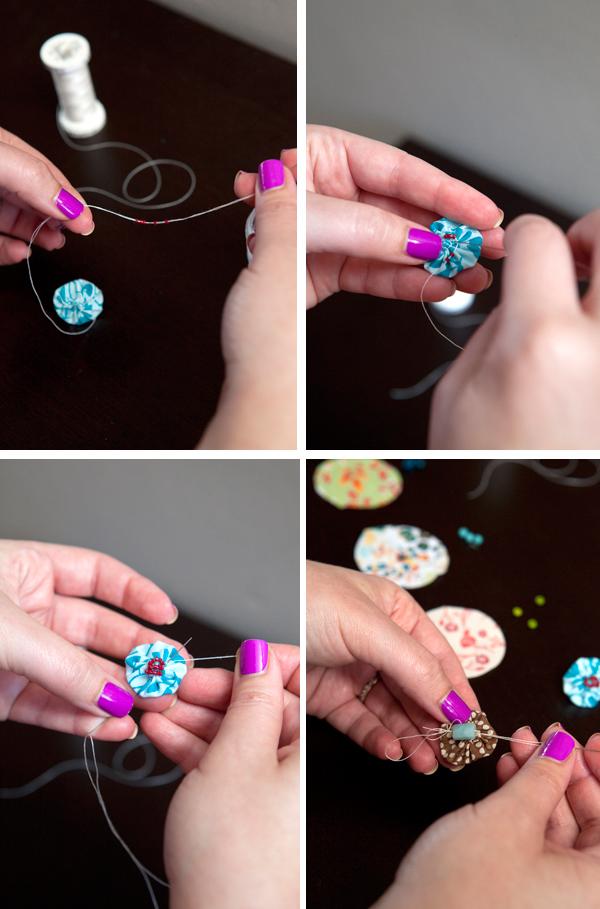 DIY fabric push pin