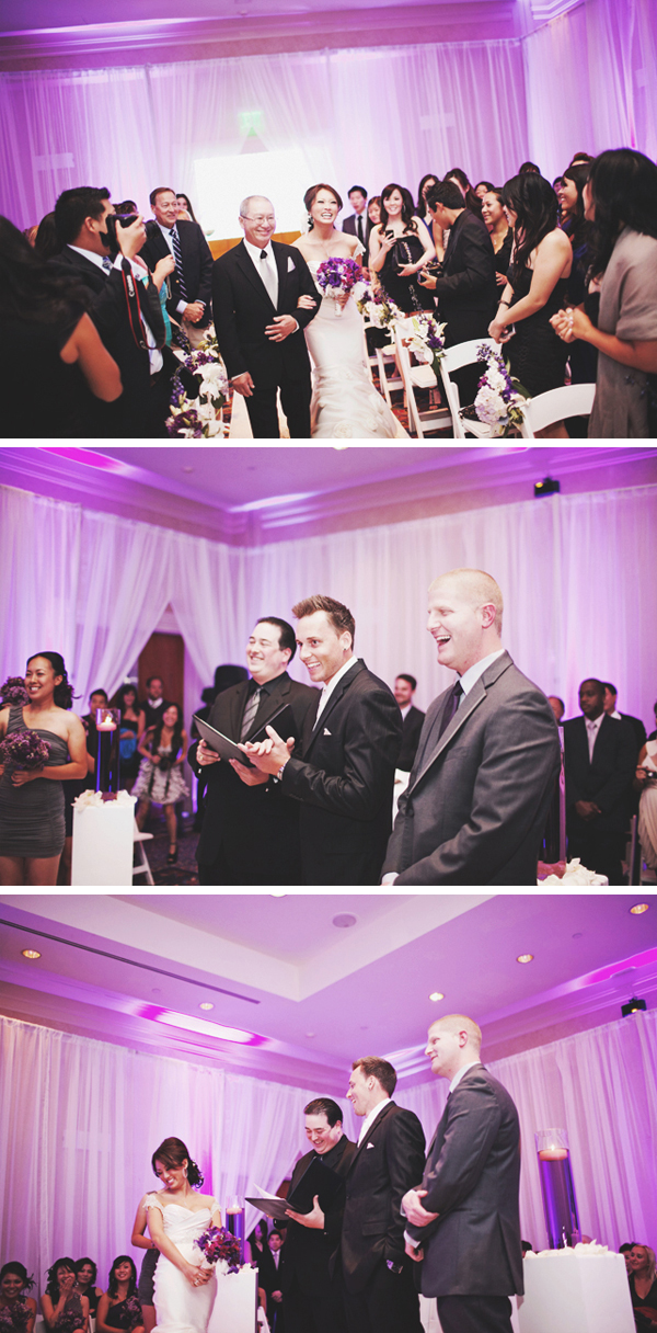 purple wedding ceremony
