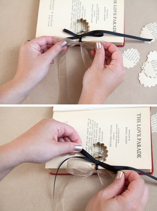 DIY wedding ring bearer book - Something Turquoise