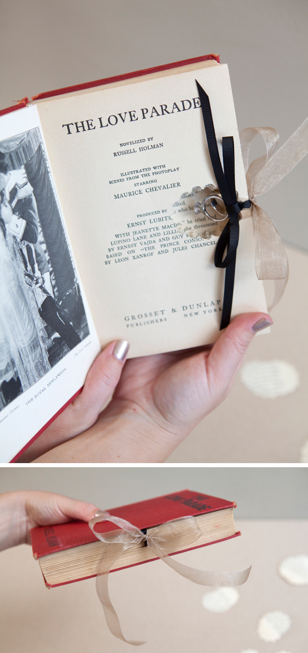 Learn how to make this darling diy ring bearer book for Diy ring bearer