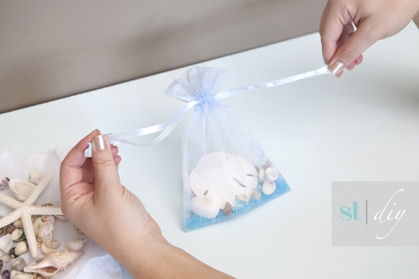 sea shell bridal shower favors