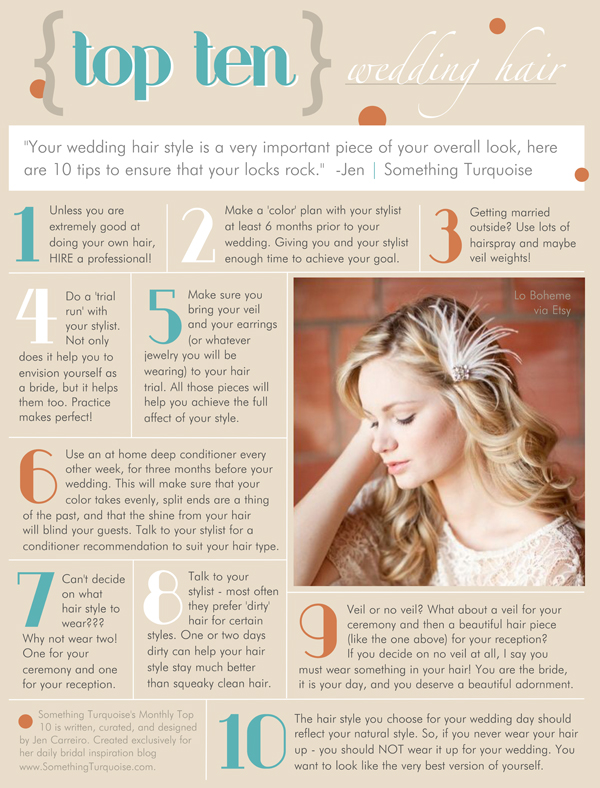 Ten Best Wedding Hair Tips