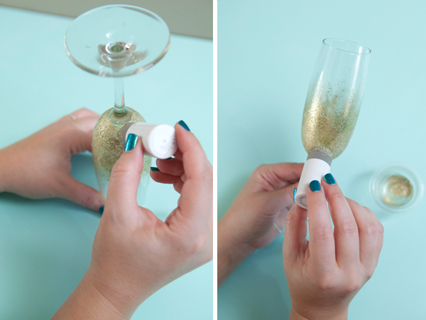Learn How To Make Glitter Champagne Glasses!