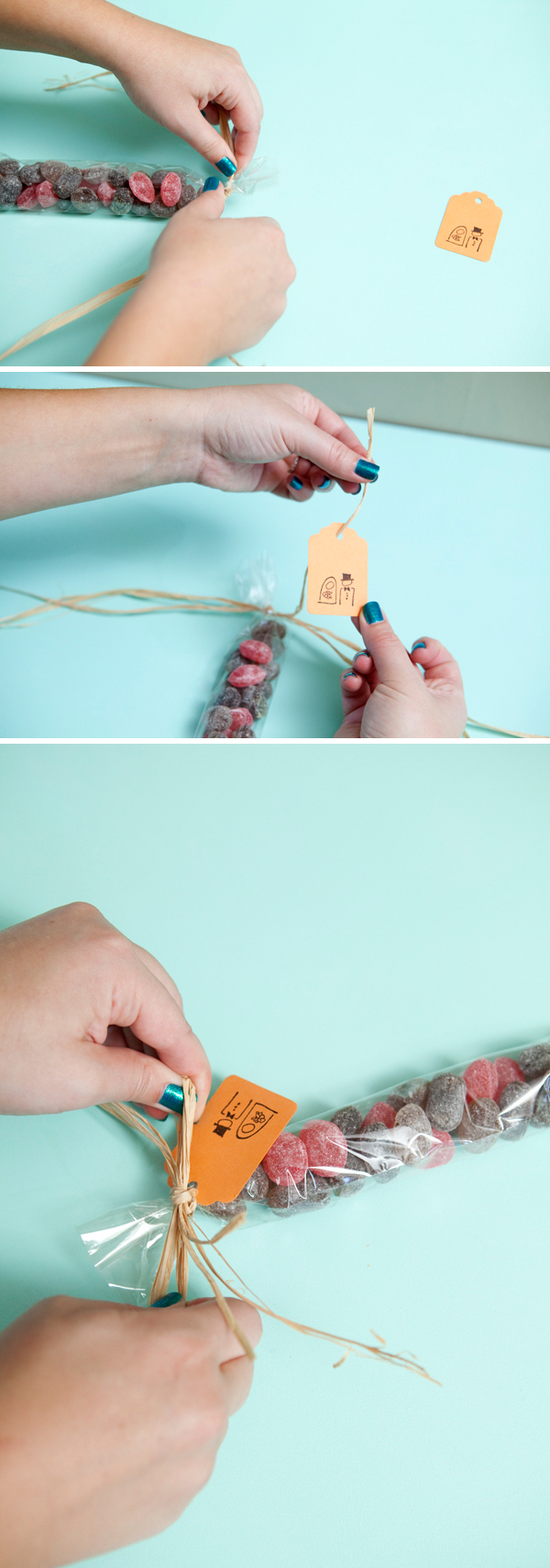SomethingTurquoise.com DIY old fashioned candy favor