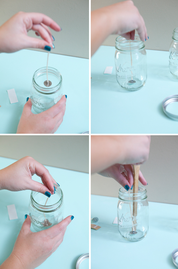 How to make DIY mason jar candles