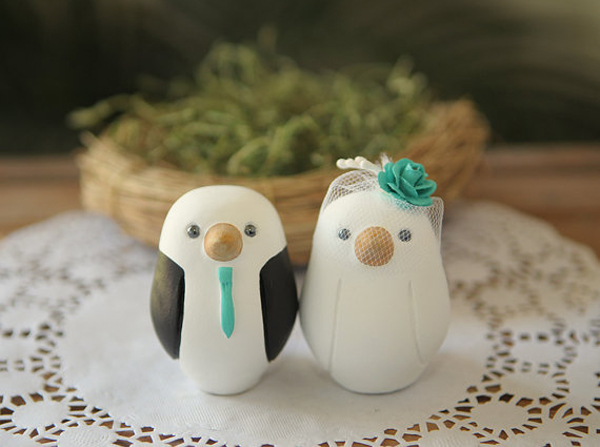 Etsy unique cake toppers something turquoise somethingturquoise unique wedding cake toppers via etsy junglespirit Image collections