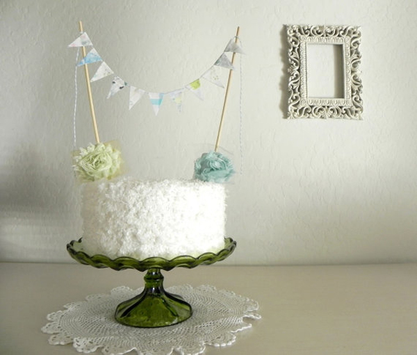 SomethingTurquoise.com Unique Wedding Cake Toppers via Etsy