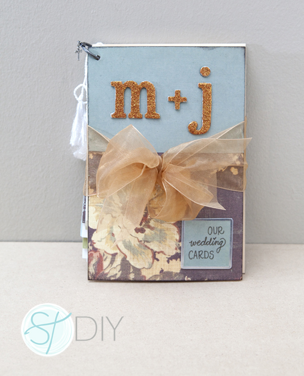Wedding Card Mini-Album from SomethingTurquoise.com