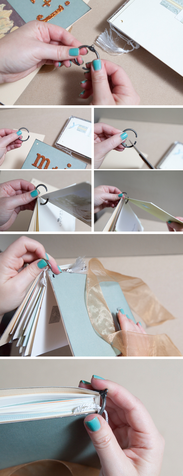 How to diy an adorable album to save special greeting cards wedding card mini album from somethingturquoise m4hsunfo Images