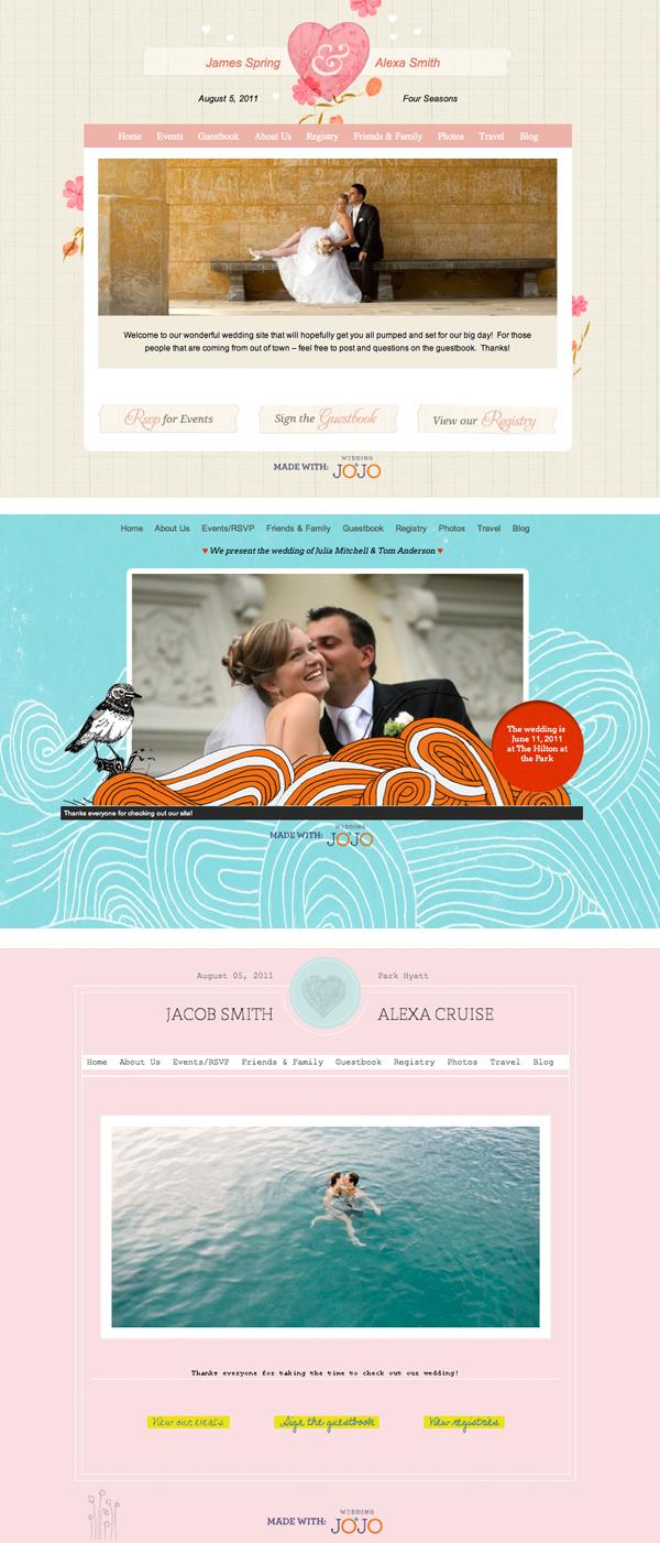Wedding Websites from Wedding JoJo - Something Turquoise
