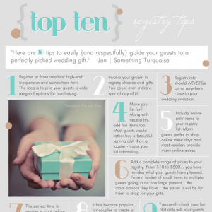 top ten tips for wedding registries