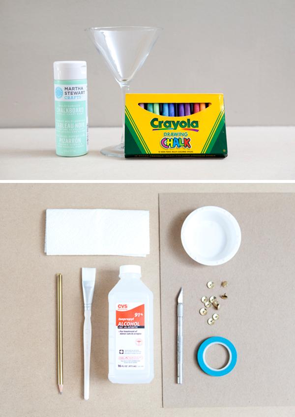 How To Make Diy Chalkboard Martini Glasses