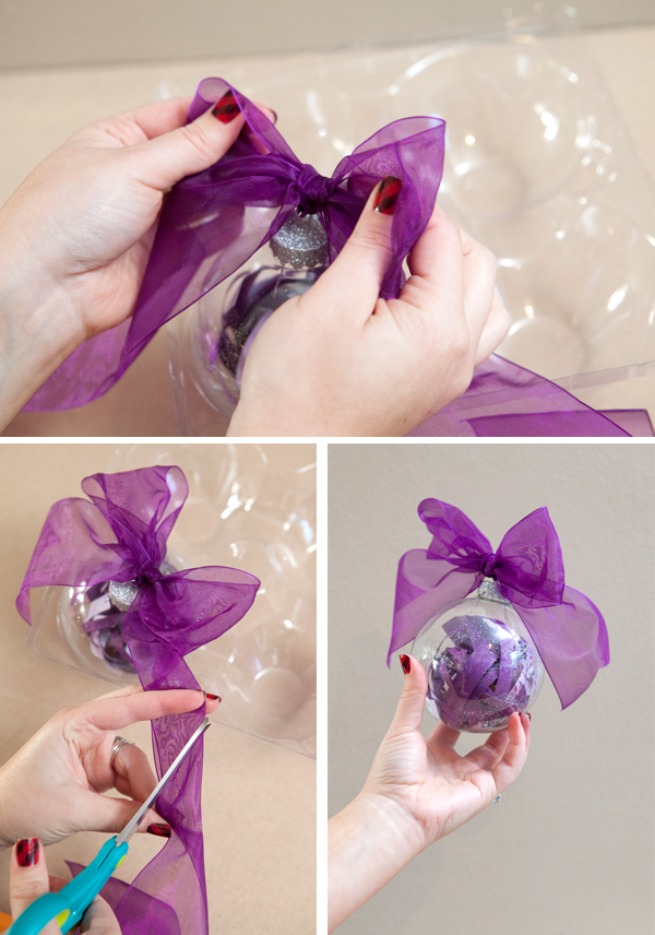Somethingturquoise Diy Make Your Wedding Invitation Into A Christmas Ornament