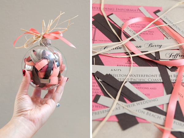 how to make a diy wedding invitation ornament, Wedding invitations