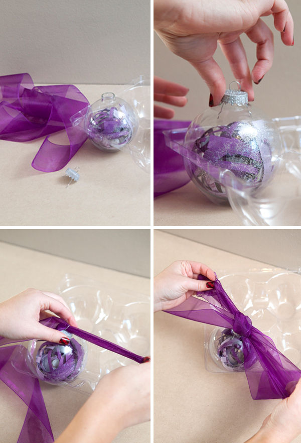 SomethingTurquoise.com DIY make your wedding invitation into a christmas ornament