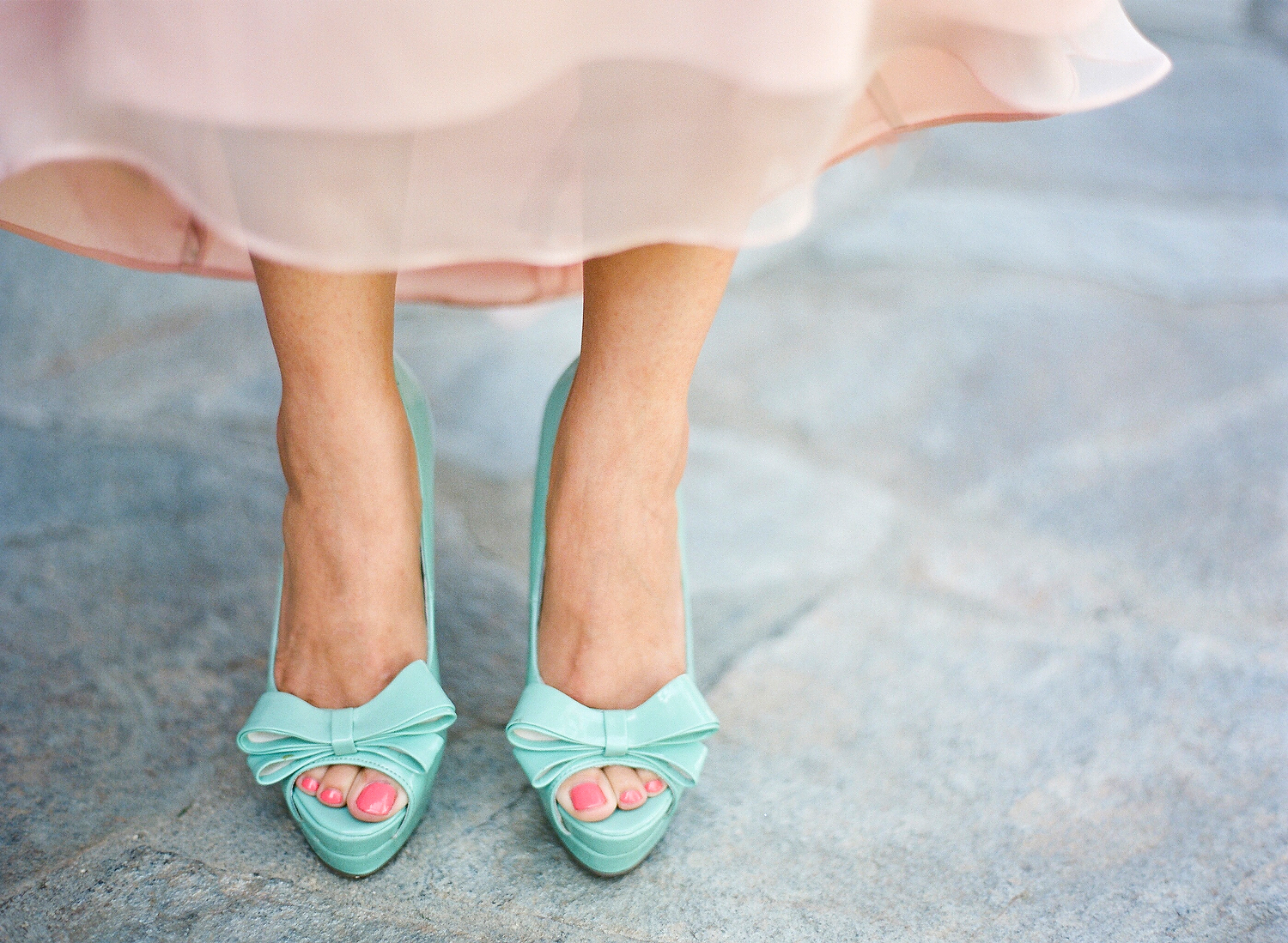turquoise bridesmaids shoes