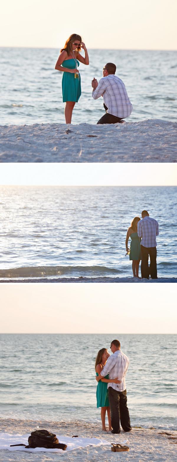 Proposal caught on film via Something Turquoise