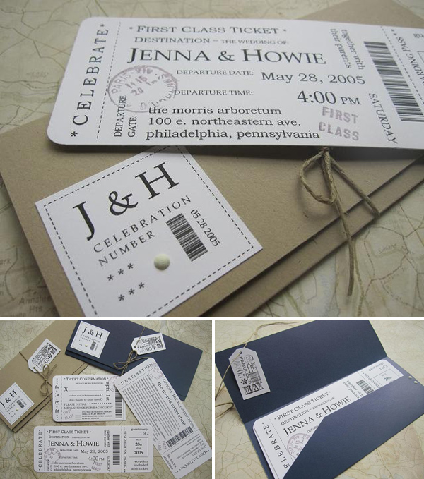 Unique Wedding Invitations from Etsy via Something Turquoise