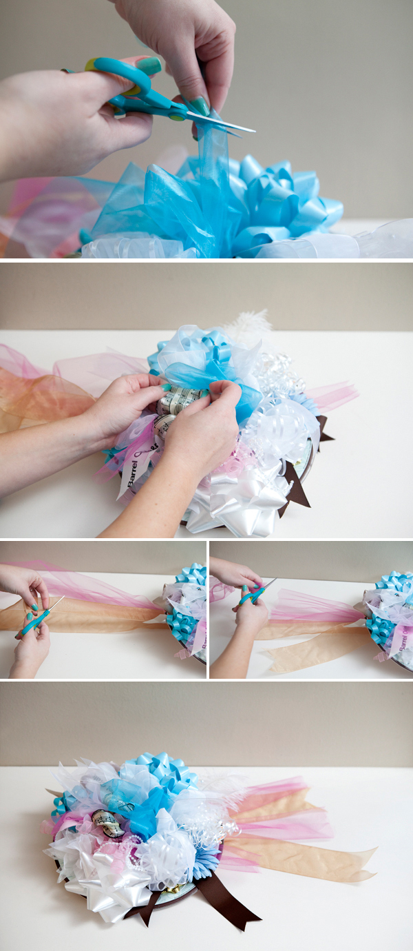Bridal Shower Gifts Diy : ... wedding rehearsal bouquet out of all the bows from your bridal shower