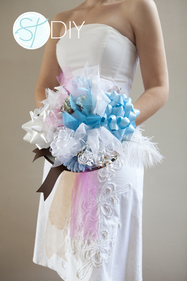 Make A Wedding Rehearsal Bouquet Out Of All The Bows From Your Bridal Shower