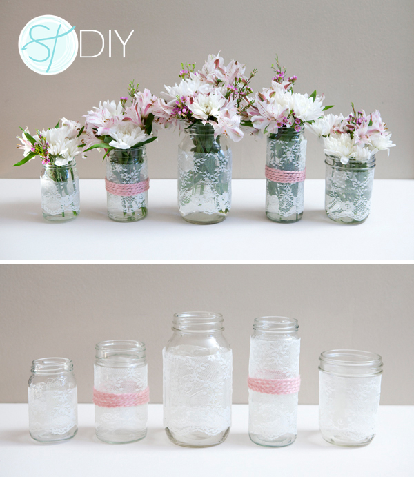How To Decorate Mason Jars Awesome Refined Beauty 50 Lace Wedding Ideas  Lace Weddings Wedding And Review