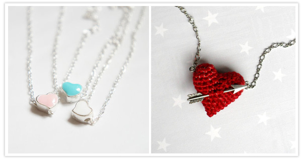 Unique Heart Jewelry from Etsy via Something Turquoise
