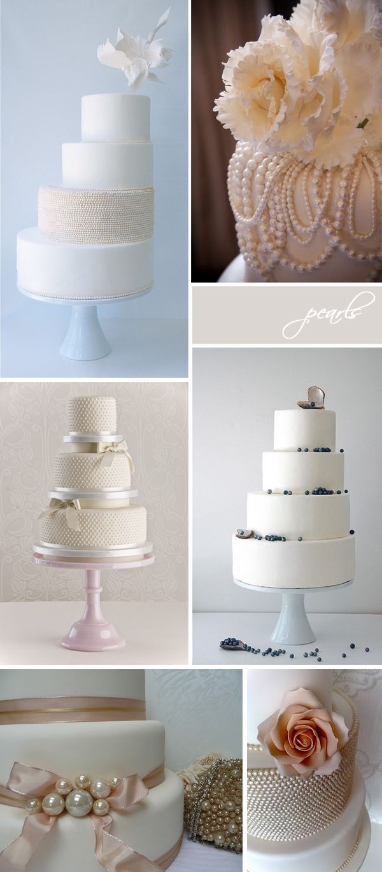 wedding cakes | pearls & lace - Something Turquoise