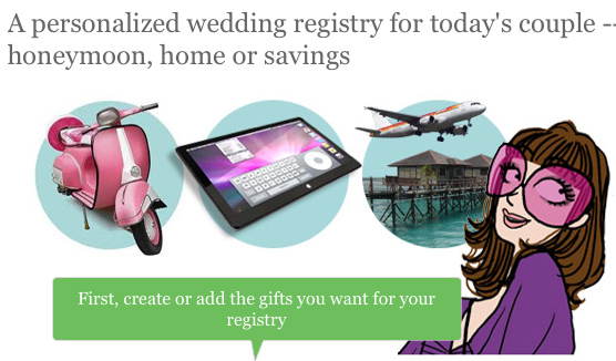 Cash Wedding Gift Registry : ... cash wedding registry within your very own Zankyou wedding website