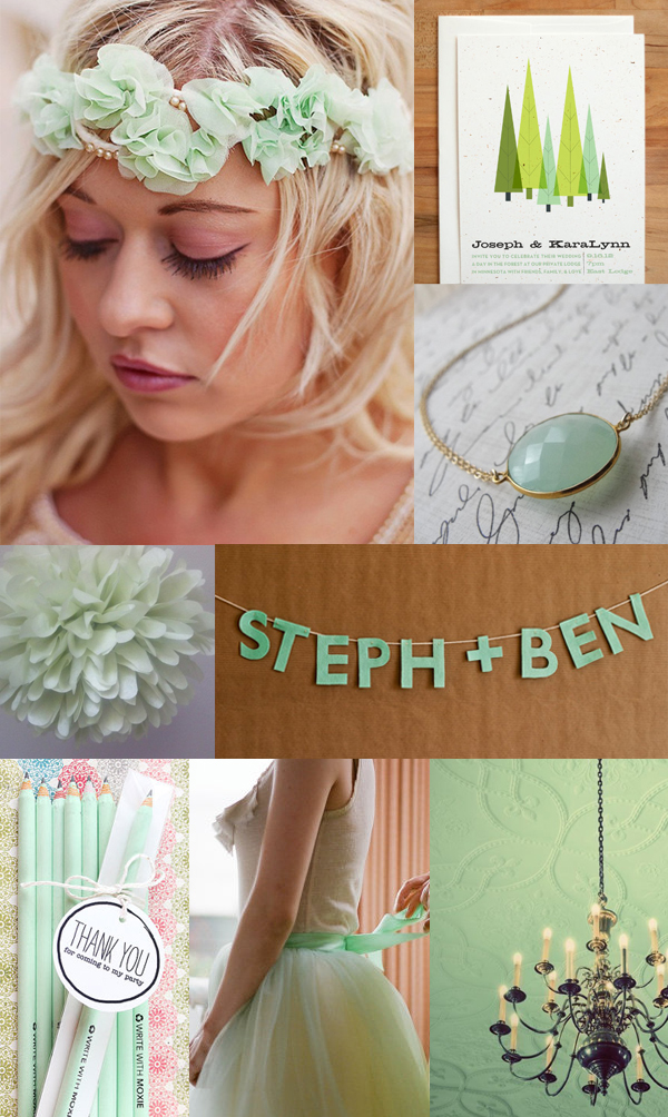 mint green wedding inspiration