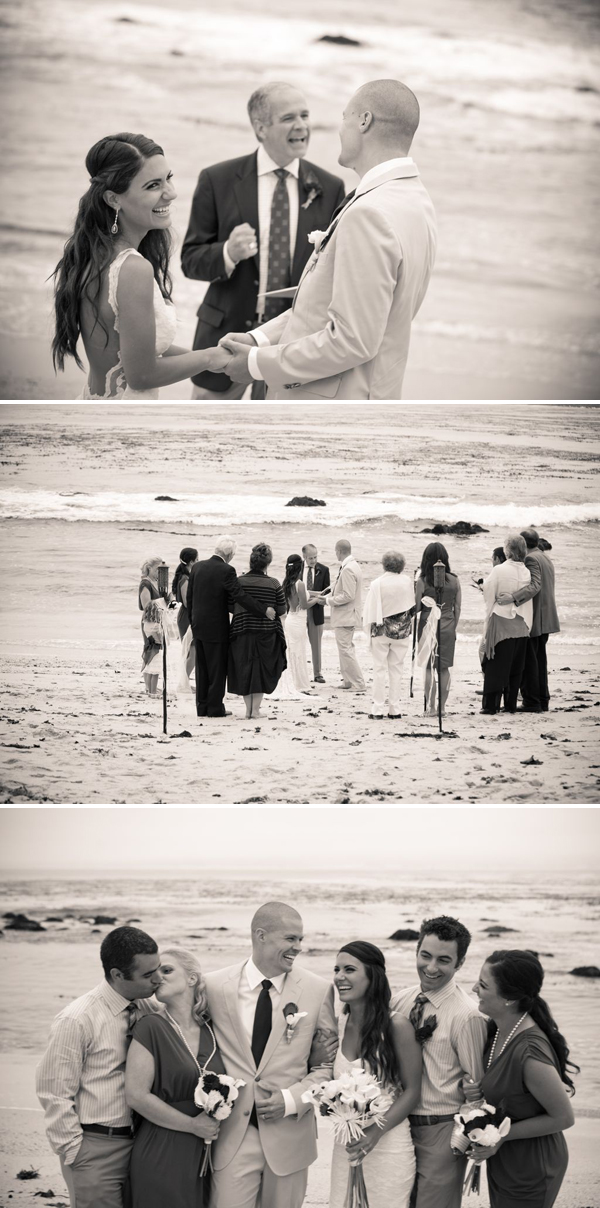 Beach wedding at Lovers Point
