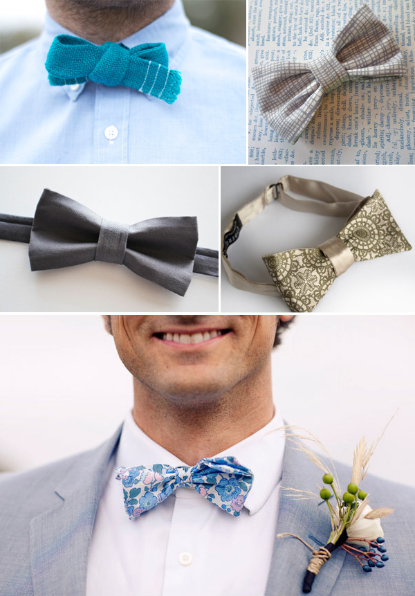 bow ties for weddings via Etsy