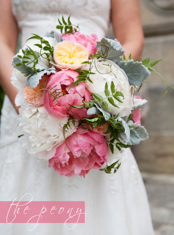 the peony as a wedding flower