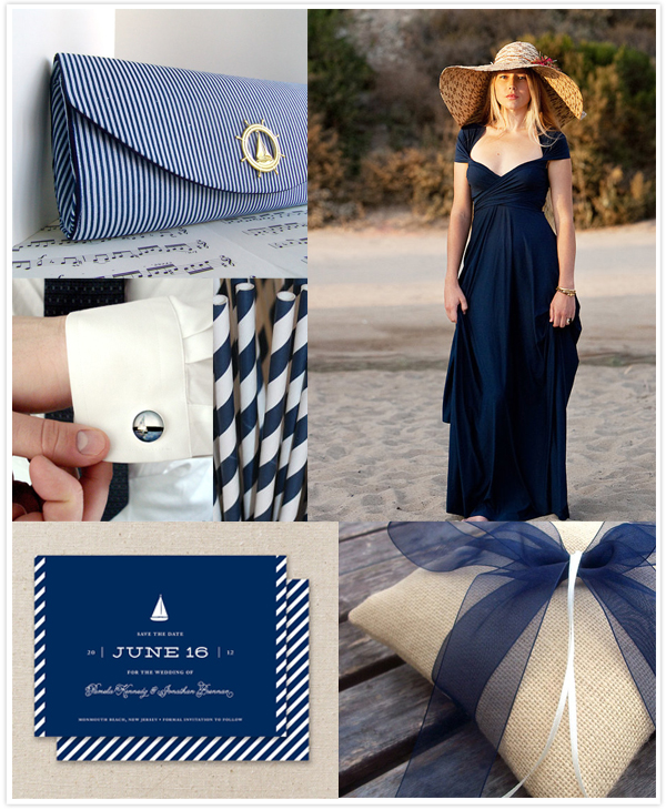 navy blue nautical wedding inspiration