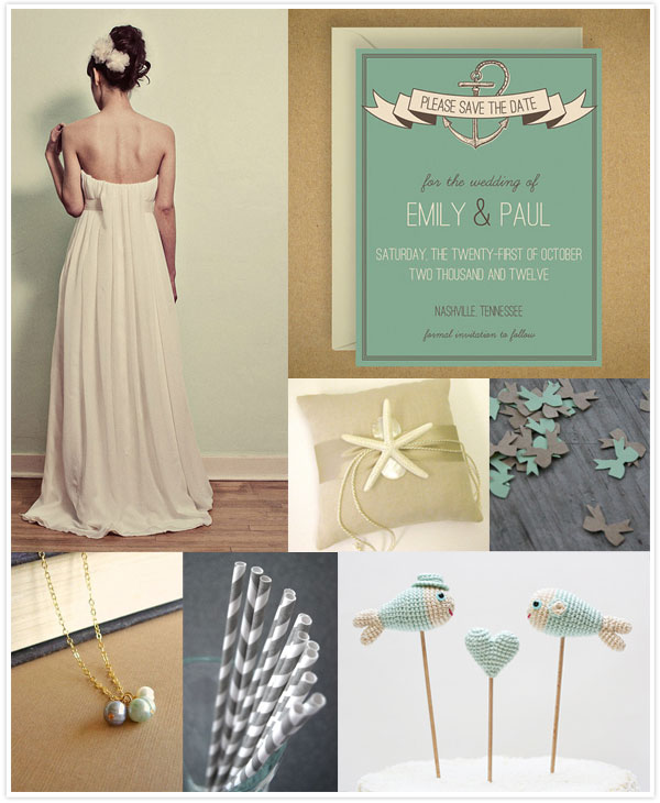 Nautical Wedding Inspiration via Something Turquoise