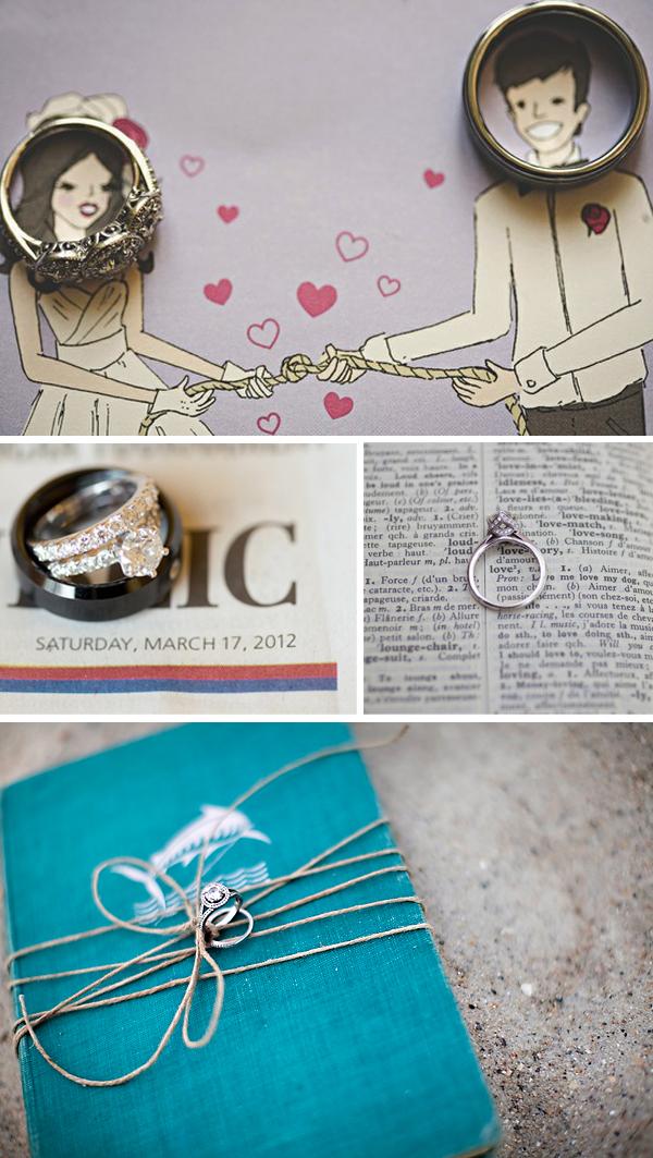 unique wedding ring shot