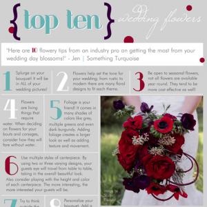 top ten wedding flower tips