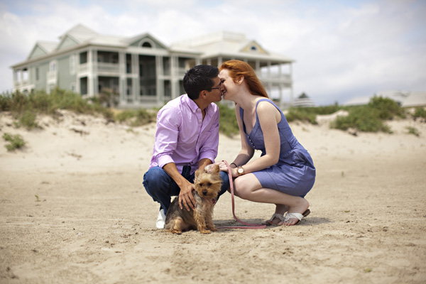 texas beach engagement