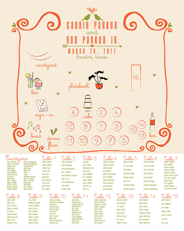 round-up | seating chart posters - Something Turquoise {daily ...