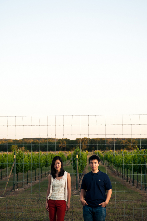 winery engagement shoot