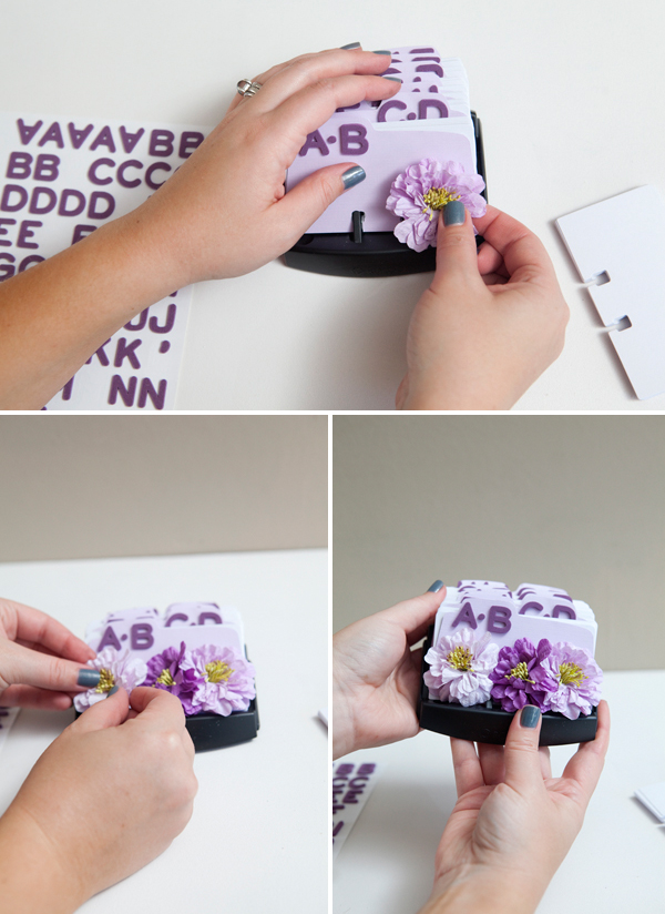 DIY Wedding Guest Book Rolodex