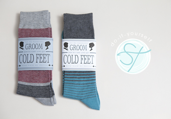 Handmade Wedding Gifts For Bride And Groom: Learn How To Make An Adorable 'groom Cold Feet Socks' Gift