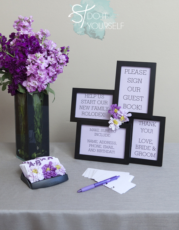 DIY rolodex guest book